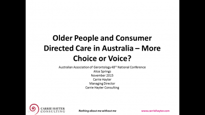 Choice, Voice and Decision Making