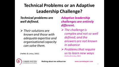 Reablement and Wellness for Regional Assessment Services- An Adaptive Leadership Challenge?
